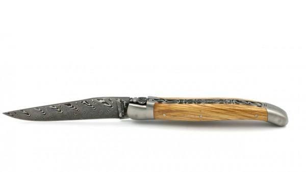 Laguiole en Aubrac DSC® Carbon Damast Olive Doppelplatine 12 cm
