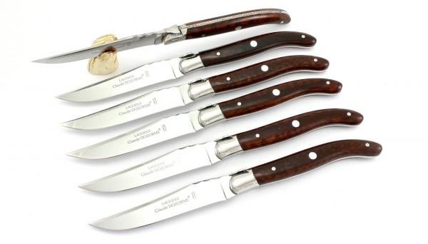 Claude DOZORME Laguiole Steakmesser Set 6-tlg. Amourette