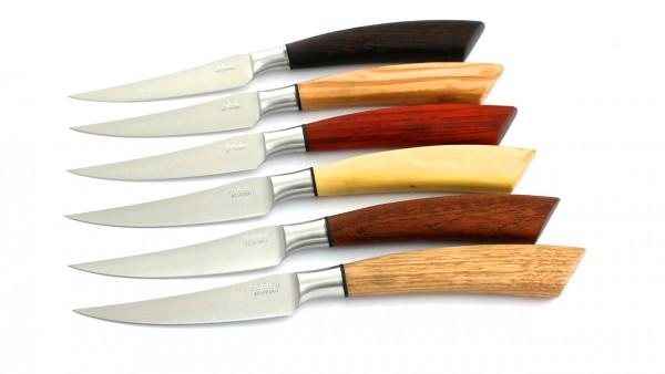 Saladini Steakmesser-Set 6-tlg. Hölzer gemischt