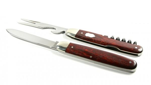 Hartkopf Bestecktaschenmesser mit Korkenzieher Rotholz
