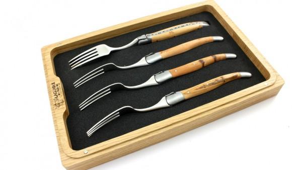 Laguiole en Aubrac Wacholder Laguiole Steakgabel Set satiniert