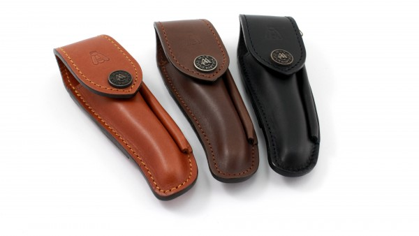 MAX CAPDEBARTHES leather sheath with sharpener NATURE FUSIL 11 to 12 cm knives