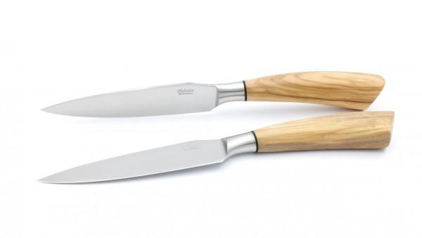 Saladini Rustico großes Steakmesser Set 2-tlg. Olive