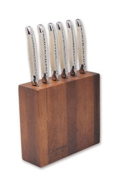 Laguiole en Aubrac bloc for Laguiole table knives acacia wood