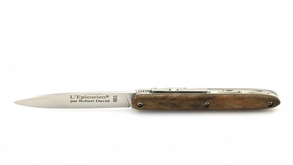 Robert DAVID petit L'Epicurien Nussbaumwurzel 10 cm guillochiert