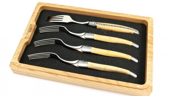 Laguiole en Aubrac Buchs Laguiole Steakgabel Set