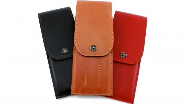 Lederaufbewahrung Steakmesser Farben: rot, maya, choco, schwarz
