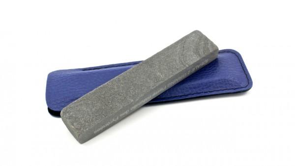 Pierre à Aiguiser des Pyrenées natürlicher Schleifstein zwei Körnungen mit Etui blau120 x 25 mm