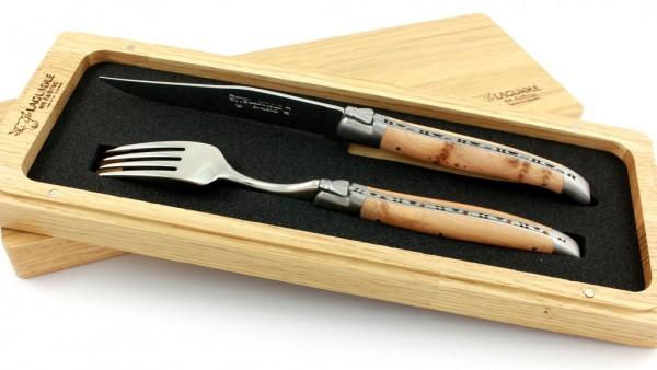 Laguiole Steakbesteckset Laguiole en Aubrac Wacholder