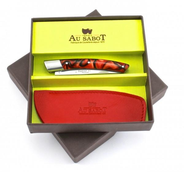 AU SABOT Le Thiers Acryl rot Geschenkset 10 cm