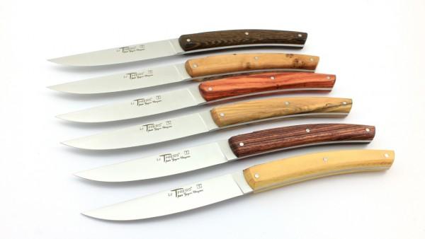 GOYON CHAZEAU Thiers PIROU Steakmesser gemischte Hölzer Set 6-teilig