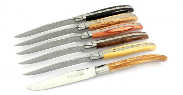 FONTENILLE PATAUD Laguiole Steakmesser gemischte Hölzer 6-tlg.
