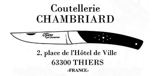 Coutellerie CHAMBRIARD Messer aus Thiers