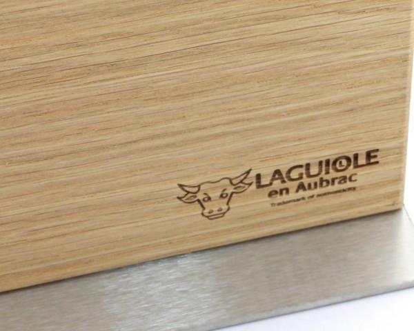 Laguiole en Aubrac magnetischer Messerblock für Steakmesser oder Kochmesser Eiche