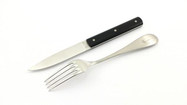 PERCEVAL 9.47 Steakmesser und Tafelgabel 2-tlg. Set POM schwarz