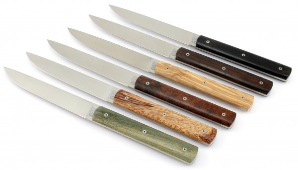 PERCEVAL 888 Steak knives Set precious wood species