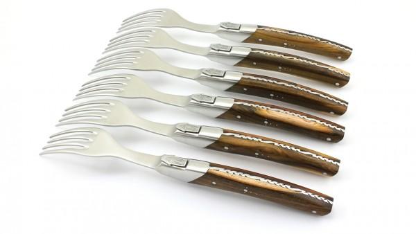 GOYON CHAZEAU Thiers PIROU PRESTIGE Steakgabel Pistazie Set 6-teilig