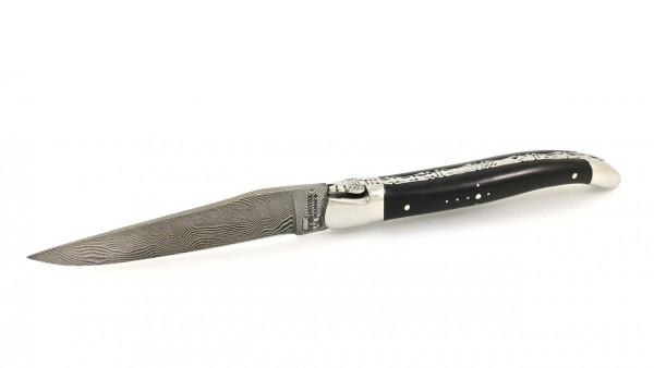 Laguiole en Aubrac DSC® Carbon Damast Ebenholz guillochiert 12 cm
