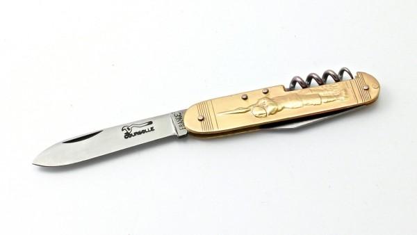 Sujet Couperier-Coursolle Jagd 9 cm dreiteilig mit Korkenzieher und kleiner Klinge