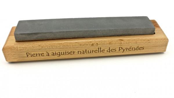 Pierre à aiguiser des Pyrenées Rutschfester Holzsockel paasend für Schleifsteine 300 x 50 mm