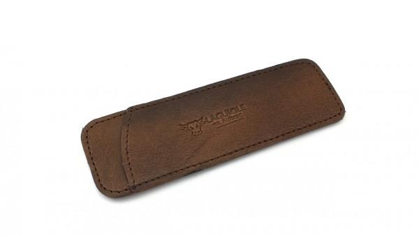 Taschen-Etui/Steck-Etui vollnarbiges Leder braun LAGUIOLE en Aubrac