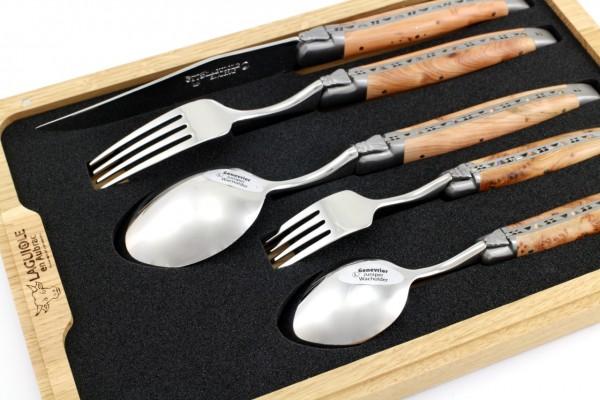 Laguiole en Aubrac Laguiole cutlery set of 5 juniper
