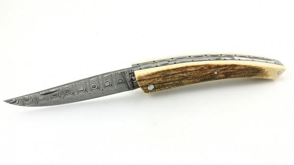 ARBALETE G. David Thiers Messer Damast Mammutelfenbein Kruste 12 cm