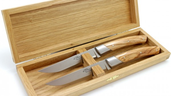 Chambriard Thiers Steak Messer Set Olive 2-teilig