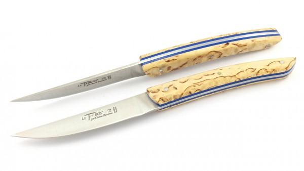 Claude DOZORME Thiers Steakknives norwegian birchwood iner blue 2/4/6 pieces