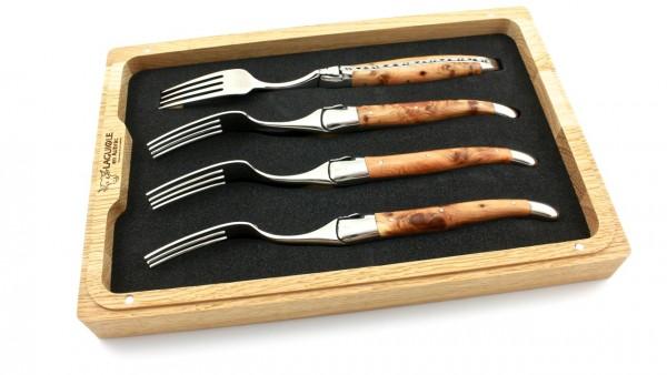 Laguiole en Aubrac Wacholder Laguiole Steakgabel Set poliert