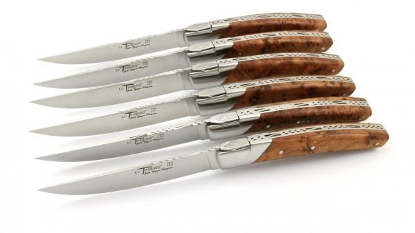 Goyon Chazeau Thiers Pirou Prestige Steakmesser Set 6-teilig Thuya